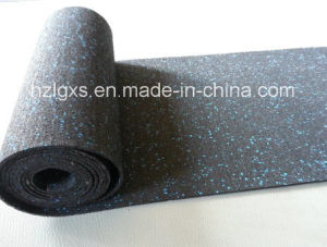 Black with Color Speckles Rubber Mats/Rolls Flooring for Gym pictures & photos