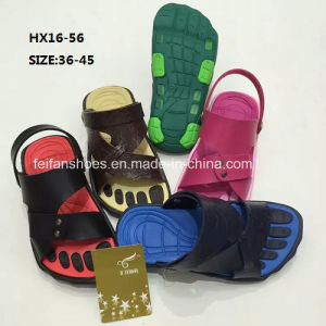 Casual Summer Beach Slipper Leather Slipper Sandal Shoes (HX16-56) pictures & photos