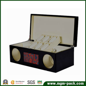 High Quality Custom Black Lacquered Wooden Watch Box pictures & photos