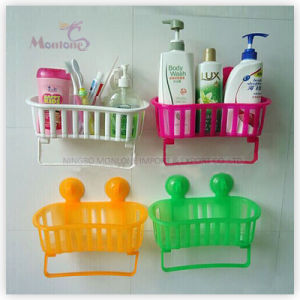 Shampoo Holder Bathroom Plastic Storage Rack Basket with Suction Cup pictures & photos