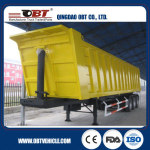 Factory Direct Sale Tri Axle 50t Side Dumper Trailer for Sale pictures & photos
