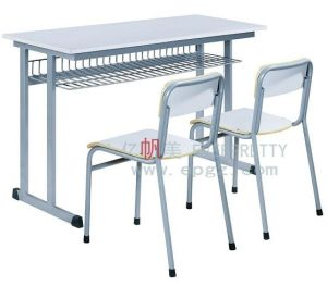 MDF &Metal Student Desk with Separate Chairs Without Drawers pictures & photos