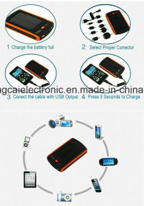 6000mA Dual USB Waterproof FCC Ce RoHS Certified Multi-Function Solar and Li-Polymer Power Bank for iPhone pictures & photos