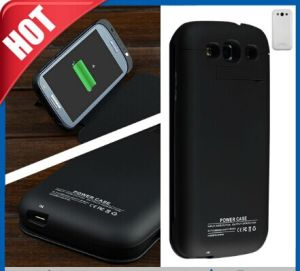 3200mAh External Battery Charger Leather Flip Case for Galaxy S3 pictures & photos
