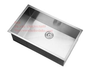 Stainless Steel Handmade Kitchen Sink, Stainless Steel Square Handmade Under Mount Single Bowl Kitchen Sink pictures & photos
