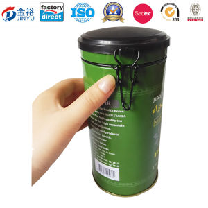 Round Shaped Wholesale Airtight Lid Locked Metal Tea Tin pictures & photos