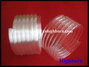 Polishing Milky White Coil Quartz Glass Pipeline pictures & photos