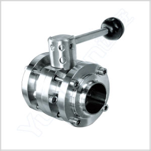 Yuanan Sanitary Stainless Steel Flange Butterfly Valve pictures & photos