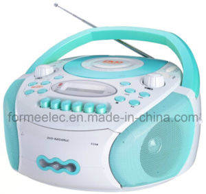 Portable DVD CD MP3 Player with Cassette Recorder Player pictures & photos