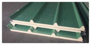 PU Color Steel Corrugated Sandwich Panel with Different Thickness pictures & photos