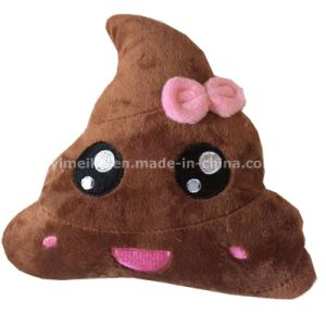 New Arrival Lovely Bow Design Shit Emoji Pillows Plush Stuffed Toy Pillow pictures & photos