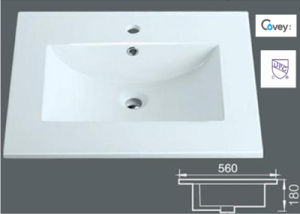 Hot Selling White Color Ceramic Sink/Washbasin with Cupc (A-3722)