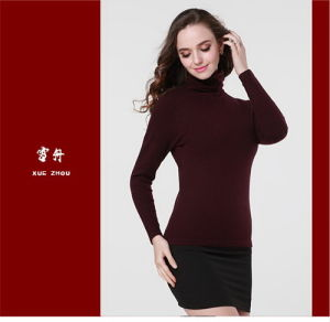Girl′s Yak Wool/Cashmere Round Neck Strentch Sweater/Garment/Clothes/Knitwear/Farbic/Textile pictures & photos