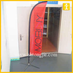 Promotion One Side Printing Feather Flag with Cross Stand (TJ-BF-006) pictures & photos