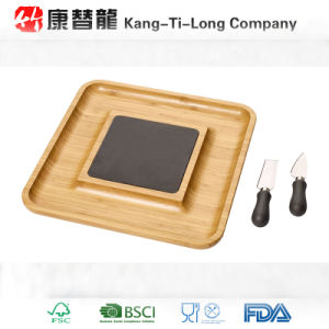 Bamboo Slate Serving Board Set