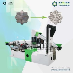 High Efficiency Two Stage Waste Plastic Compacting and Pelletizing System pictures & photos