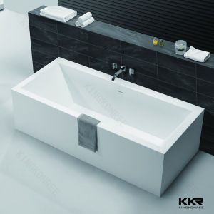 Kkr Artificial Stone Modern Square Freestanding Bathtub pictures & photos