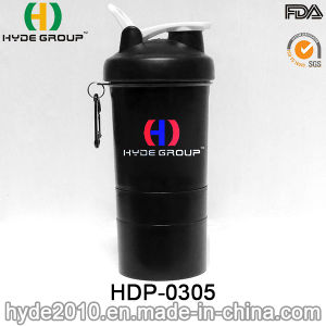 400ml Newly Portable Plastic Sport Protein Shaker Bottle (HDP-0305) pictures & photos
