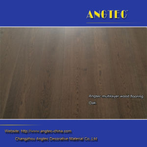 Heat Insulation Rustic Groove Engineered Wood Flooring pictures & photos