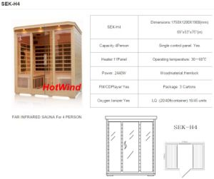 2016 Far Infrared Sauna for 4 Person-H4 pictures & photos