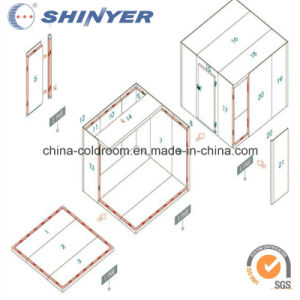 Modular Cold Room with Polyurethane PU Sandwich Panels pictures & photos
