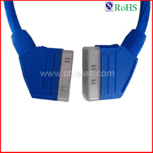 100% Tested Customized 1.5m Blue Scart Cable (SY088) pictures & photos