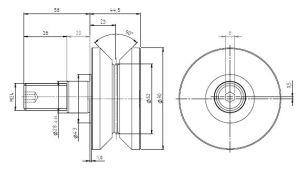 Hpve62, V-Grooved Eccentric Stud, Osborn Design Bearing, Load Runner, Idler-Rollers