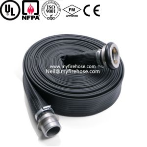4 Inch Wear-Resisting Durable PVC Lined Fire Hose pictures & photos
