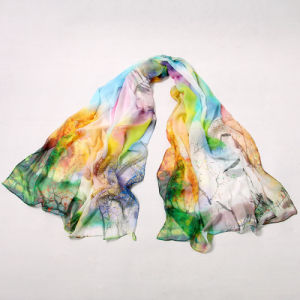High Quality Silk Georgette Large Shawl Scarf pictures & photos