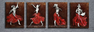 Dancing Lady 3D Aluminum Relievo Wall Craft for Home Deco pictures & photos