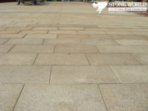 Natural Cheap Yellow Granite Pavement for Outdoor Paving Stone pictures & photos