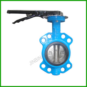 Wafer Butterfly Valve with Lever-Gray Iron Resilient Seat Butterfly Valve pictures & photos