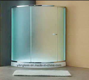 Frosted or Acid Etched Tempered Shower Screen Glass pictures & photos