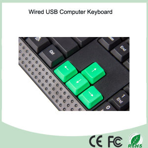 Azerty French Layout Computer USB Wired Keyboard (KB-1688) pictures & photos