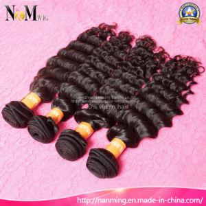 Deep Wave 4# Dark Brown Brazilian Curly Human Hair Weaving pictures & photos