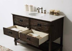 Solid Wood Bathroom Cabinet (WH5248) European Antique MDF Bathroom Vanity pictures & photos