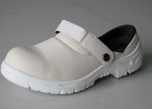 Anti-Skid PU Outsole White Safety Shoes pictures & photos