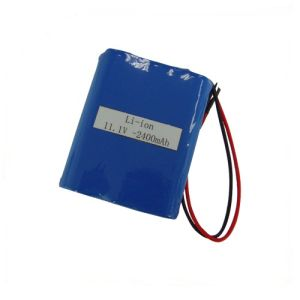Good 11.1V 2400mAh Li-ion Rechargeable Battery Pack pictures & photos