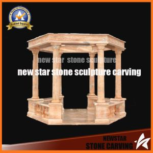Sunset Red Granite Carving Classic Gazebo pictures & photos