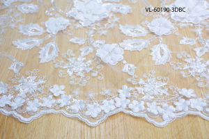 White Rayon Floral Lace Wedding Factory Vl-60190-3dbcp pictures & photos