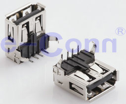USB2.0 Male/Female Connector Right Angle pictures & photos