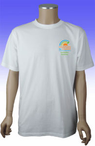 Custom Top Quality Cotton Plain Round Neck T Shirt pictures & photos