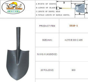 Construction Types of Spade Shovel with Handle, Farm Shovel