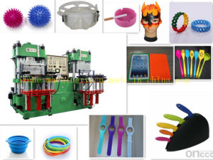 Silicone Rubber Vacuum Hydraulic Press for O Rings Made in China pictures & photos