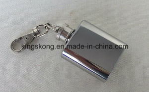 Small Size Portable Whisky Alcohol Flagon Gift Set 1oz Mini Stainless Steel Hip Flask pictures & photos
