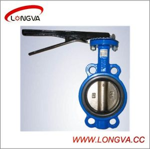 High Quality Cast Steel Wafer Type Butterfly Valve pictures & photos
