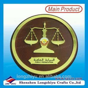 Custom Design Gold Sign MDF Award Wood Plaque in China pictures & photos