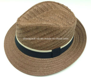 Japanese 2016 Spring Paper Straw Fedora Hats (CPA_60241) pictures & photos