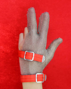 Steel Chain Metal Protective 3 Finger Work Glove pictures & photos