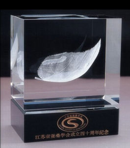 Souvenir Gifts Crystal 3D Laser Engarving Building Model pictures & photos